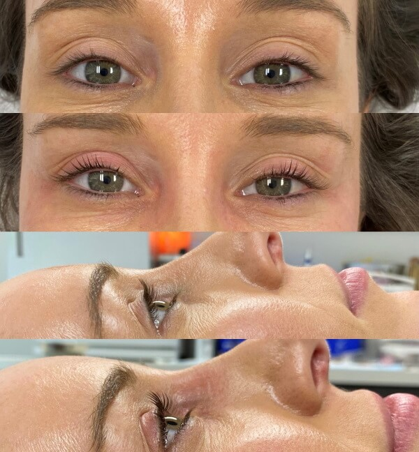 Lash Lift Before and After Image