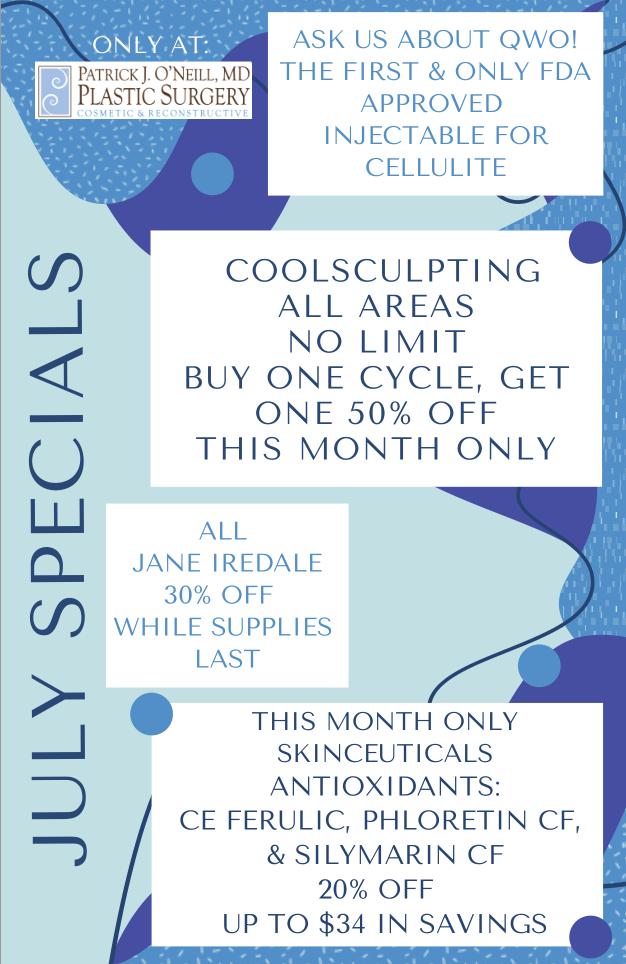 July 2021 Specials Brochure